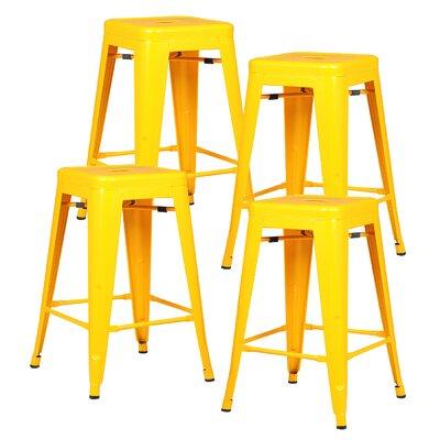 Alyssa 24 Bar Stool Color: Yellow