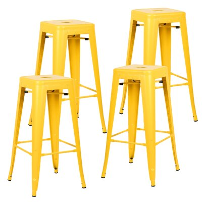 Alyssa Handmade 30 Bar Stool Finish: Yellow