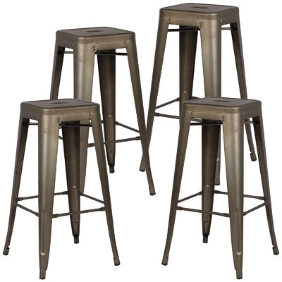 Alyssa Handmade 30 Bar Stool Finish: Bronze