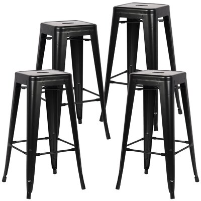 Alyssa Handmade 30 Bar Stool Finish: Black