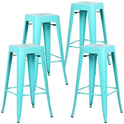 Alyssa Handmade 30 Bar Stool Finish: Aqua