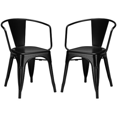 Alyssa Dining Chair Color: Black