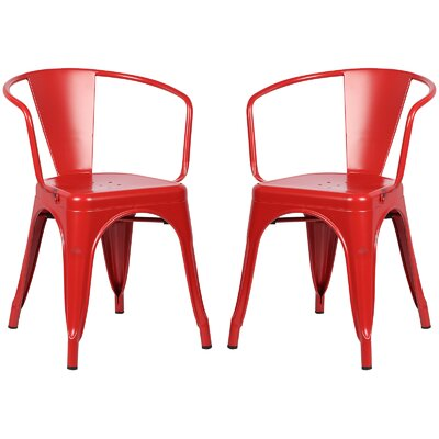 Alyssa Dining Chair Color: Red