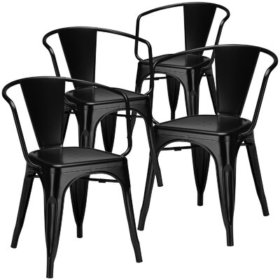 Alyssa Dining Chair Finish: Black