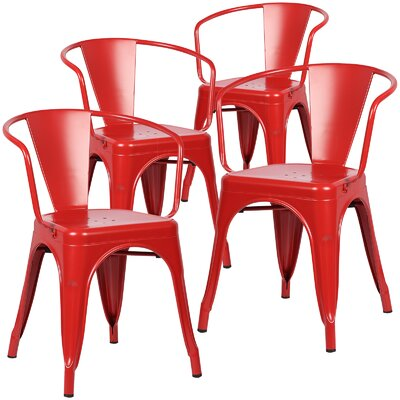 Alyssa Arm Chair Finish: Red