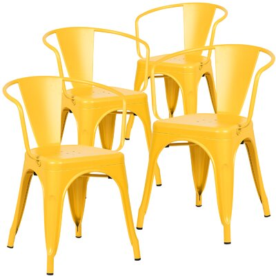 Alyssa Arm Chair Finish: Yellow