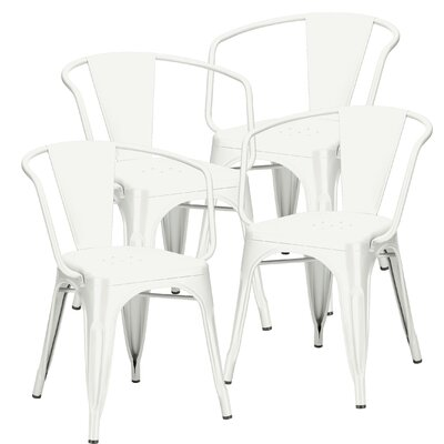 Alyssa Arm Chair Finish: White