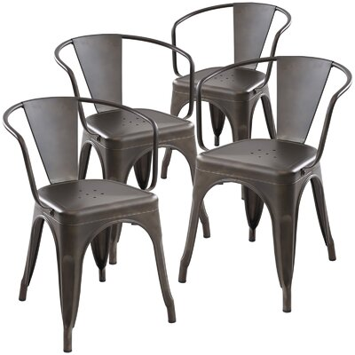 Alyssa Dining Chair Finish: Bronze