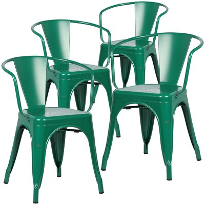 Alyssa Dining Chair Finish: Dark Green