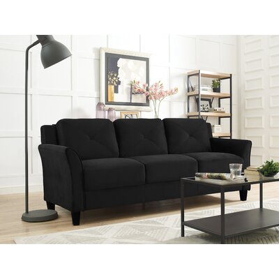 Ibiza Sofa Color: Black