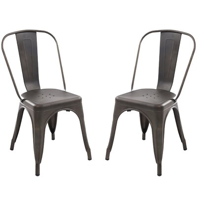 Alyssa Dining Chair Color: Bronze
