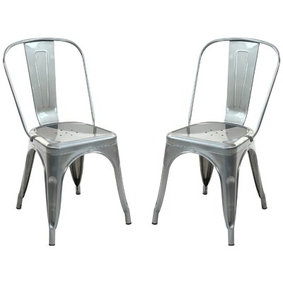 Alyssa Dining Chair Color: Polished Steel