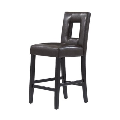 Christensen 27 Bar Stool Upholstery: Brown