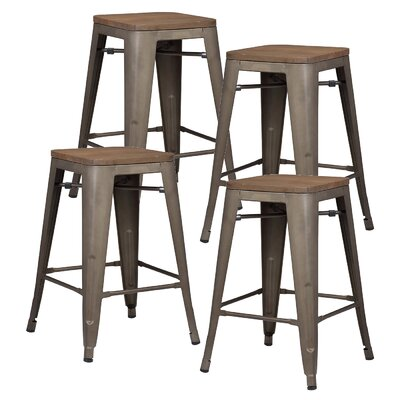 Alyssa 24 Bar Stool Color: Elmwood / Bronze