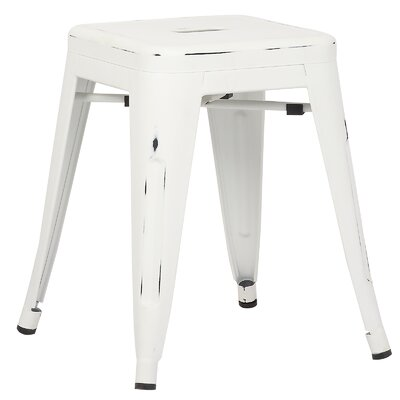 Alyssa 18 Bar Stool Color: Distressed White