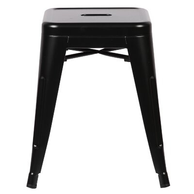 Alyssa 18 Bar Stool Color: Black