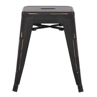 Alyssa 18 Bar Stool Color: Distressed Black