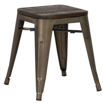 Alyssa 18 Bar Stool Color: Elmwood / Bronze