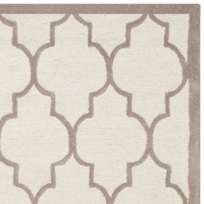 Charlenne Hand-Tufted Ivory/Beige Area Rug Rug Size: Rectangle 8 x 10
