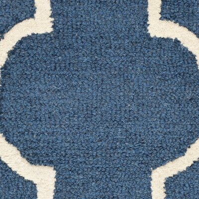 Charlenne Hand-Tufted Navy Area Rug Rug Size: Rectangle 2'6