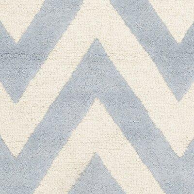 Charlenne Hand-Tufted Wool Light Blue/Ivory Area Rug Rug Size: Rectangle 5 x 8