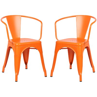 Alyssa Dining Chair Color: Orange