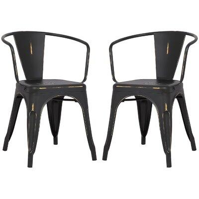 Alyssa Dining Chair Color: Distressed Black