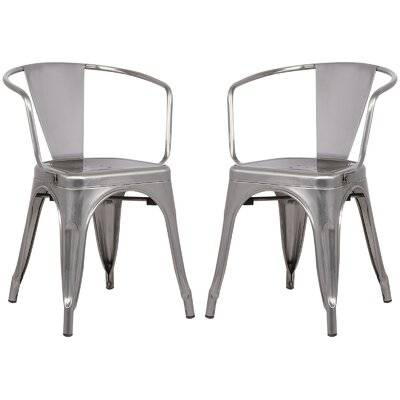 Alyssa Dining Chair Color: Polished Gunmetal