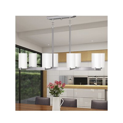 Addilyn 8-Light Kitchen Island Pendant Finish: Brushed Nickel