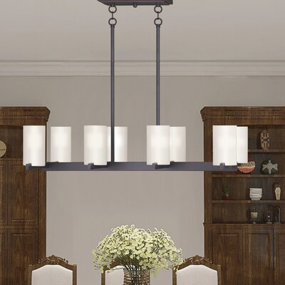 Addilyn 8-Light Kitchen Island Pendant Finish: Old Bronze