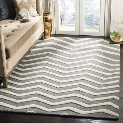 Charlenne Dark Gray Area Rug Rug Size: Rectangle 5 x 8