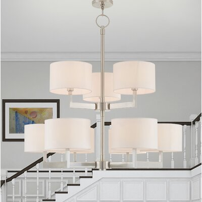 Mai 9-Light Drum Chandelier Finish: Brushed Nickel