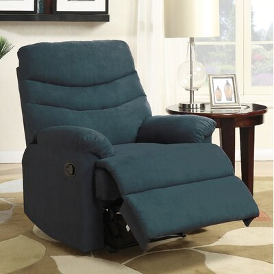 Melany Manual Wall Hugger Recliner Upholstery: Blue