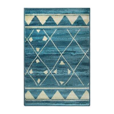 Briella Blue Area Rug Rug Size: Rectangle 2 x 3