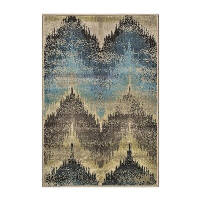Abril Beige/Blue Area Rug Rug Size: Rectangle 2 x 3