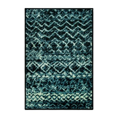 Hopkins Blue/Black Area Rug Rug Size: Rectangle 2 x 3