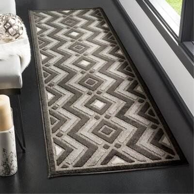 Charlot Gray Outdoor Area Rug Rug Size: Runner 23 x 8