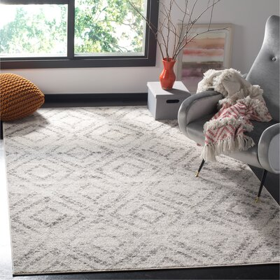 Buckleton Light Gray/Gray Area Rug Rug Size: Rectangle 51 x 76