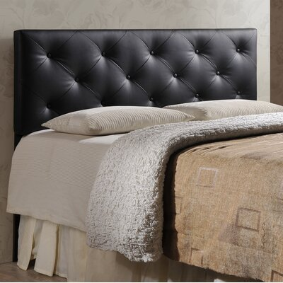 Orlando Panel Headboard Size: Queen, Upholstery: Black