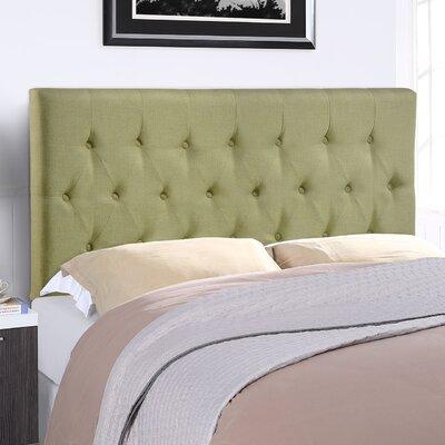 Sasha Upholstered Panel Headboard Size: Queen, Upholstery: Green