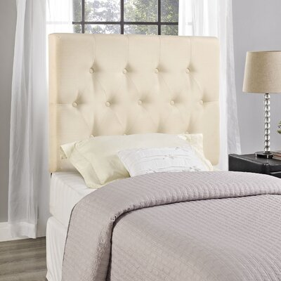 Sasha Upholstered Panel Headboard Size: King, Upholstery: Ivory