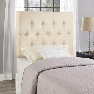 Sasha Upholstered Panel Headboard Size: King, Upholstery: Ivory