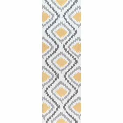 Garrard Hand-Woven Yellow Area Rug Rug Size: Runner 26 x 8