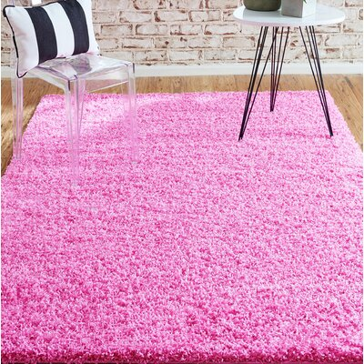 Madison Pink Area Rug Rug Size: Round 6