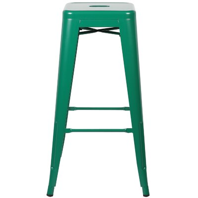 Alyssa 30 Bar Stool Finish: Dark Green