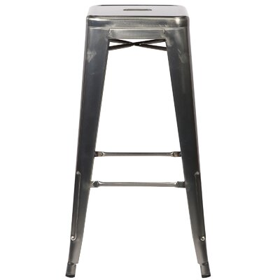 Alyssa 30 Bar Stool Finish: Polished Gunmetal