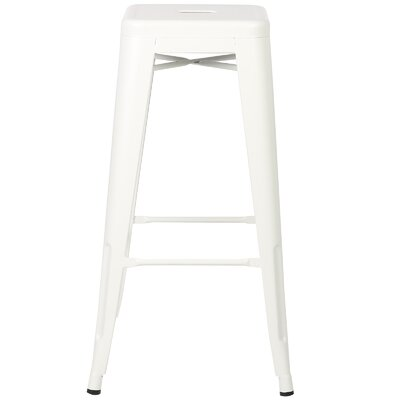 Alyssa 30 Bar Stool Finish: White