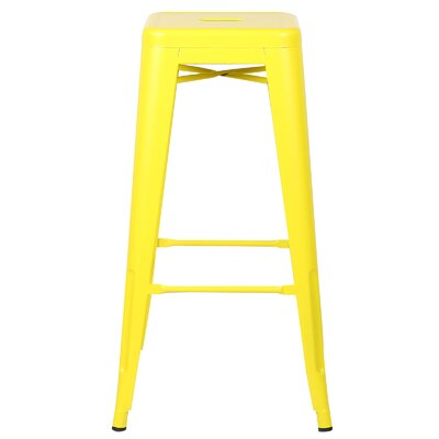 Alyssa 30 Bar Stool Finish: Yellow