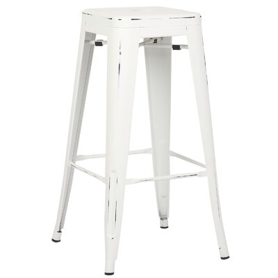 Alyssa 30 Bar Stool Finish: Distressed White