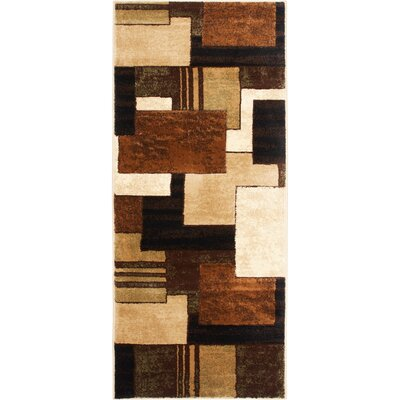 Nolan Brown/Green Area Rug Rug Size: Runner 19 x 72
